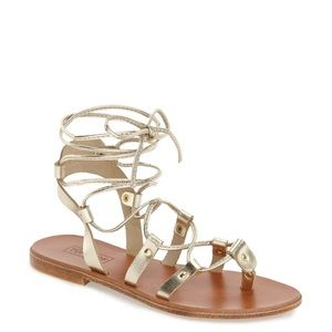 TOPSHOP Metallic Gold Foxy Gladiator Sandals